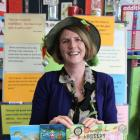 Jennifer Somervell with some of her books at St Mary's School, in Milton, last week during her...