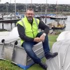 Otago Regional Council harbourmaster Steve Rushbrook sits at the Otago Yacht Club. PHOTO: STEPHEN...