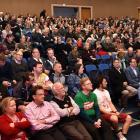 Dunedin secondary school teachers gather at the Otago Boys' High School auditorium to vote on the...