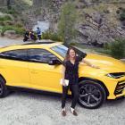 Motoring reporter Catherine Pattison takes a ride in a Lamborghini Urus. Photo: Stephen Jaquiery