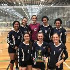 The Otago Girls' High School champion year 13 volleyball team (back from left) Leimanu Hotesi,...