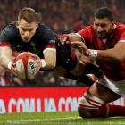 Wales' Liam Williams scores their third try. Photo: Action Images via Reuters