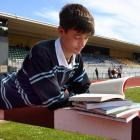 King's High School pupil William Scharpf will be hitting the books and the running track today....