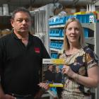 Foleys Dunedin director Craig Foley and marketing manager Tracy Pleasants show off the new Otago...