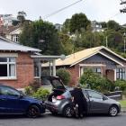 Three houses in Motu St were evacuated last week. Photo: ODT