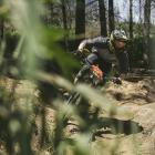 Men's winner Josh McCombie, of Dunedin, shows how it's done at Signal Hill in the 3 Peaks Enduro...