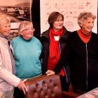 Museum volunteer Liz Keast (left), Strath Taieri Historical Society secretary Irene Ramsay,...