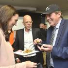 Prime Minister Jacinda Ardern, Nigel Jones (centre), from Alliance, and Invercargill Mayor Tim...