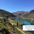 The route of the proposed Lake Dunstan Cycle Trail is seen downstream from Brewery Creek, in the...