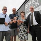 Central Otago and polytechnic leaders (from left) Otago Polytechnic chief executive Phil Ker,...