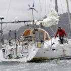 Francis Tolan, who is taking part in the inaugural La Longue Route solo circumnavigation sailing...
