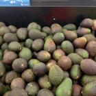 Avocados priced at $7.99 at Centre City New World in Dunedin last week. Photo by Shawn McAvinue.