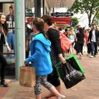 Confident consumers hit the shops. Photo by Christine O'Connor.