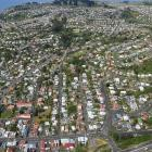 Prices are up and sales down around Dunedin. Pictured: the suburb of Corstorphine, looking...