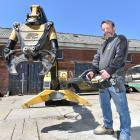 Richard Buckby, from Accurate Cutting, with the Brokk 160 remote-controlled demolition machine....