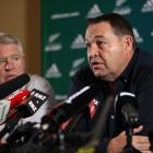 All Blacks coach Steve Hansen announces he will step down after  the 2019 Rugby World Cup  at the...