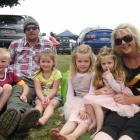 Rochelle Glover, her partner William McMillan and children (from left) Charlie (6) and Sofia (4)...