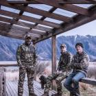 Robert Wilson (centre), founder of outdoor clothing brands Hunters Element and Riverworks. Photo:...