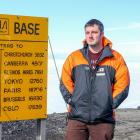 Spending Christmas Day at Scott Base, in the Antarctic, is telecommunications engineer Adam...