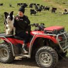 Jo Scott enjoys spending time on the  family farm on the outskirts of Oamaru. Photo: Supplied