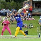 Otago batsman Anaru Kitchen is clean bowled by Northern Districts paceman Scott Kuggeleijn during...