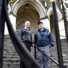 Catholic Bishop of Dunedin the Most Rev Michael Dooley (left) is lending financial support to...