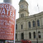 Waitaki District Council staff plastered 150 flyers around Oamaru and outlying areas yesterday...