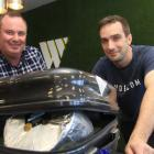 Whitestone Cheese managing director Simon Berry (left) and head cheesemaker Chris Moran with the...
