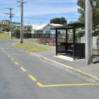 The Ocean Grove bus stop where a plucky 5-year-old boarded a bus on his own to visit his father...