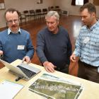 Dunedin City Council water and waste services network contracts manager William Clifford (left)...