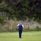 "Police search for a man seen ''masturbating in public"" near St Clair beach. Photo: Gregor Richardson"