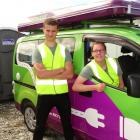 Dan Bell and Katie Pollard will spend the summer educating freedom campers in Queenstown. Photo:...
