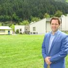 Clutha-Southland MP Hamish Walker in front of the former Wakatipu High School, where it is...