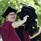 Rebecca Harding (27) is looking forward to wearing her own mortar board as she prepares to...