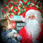 Dunedin boy Luca Brook has a private meeting with Santa at Toitu. Photo: Supplied