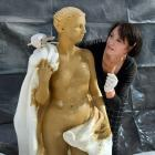 Louisa Baillie sculpts a female nude at Seddon's as a commission for a Canterbury client. Photo:...