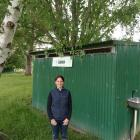 Lawrence Gymkhana Club secretary Helen Gibbs stands in front of the old toilet block which is...