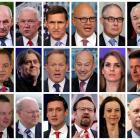 (top row L-R) Rex Tillerson, John Kelly, Jeff Sessions, Michael Flynn, H.R. McMaster, Scott...