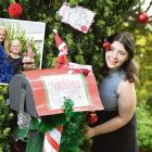 Jason St residents and their decorated letterboxes. Main photo: Mikayla Cameron (20); clockwise...