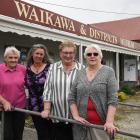 Waikawa and Districts Museum (from left) helpers, historian Ruth Hayes, treasurer Pani Grey...
