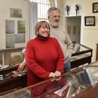 Waikouaiti Coast Heritage Centre curator Kay and chairman Bill Lang among the displays at the...