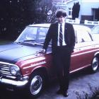 Howard Anderson stands beside his 1964 Vauxhall  Cresta PB in  late  1969 after taking it on a ...