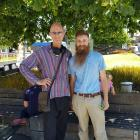 Cookie Time founder Michael Mayell (left) and Dunedin's Whakamana Cannabis Museum founder Abe...