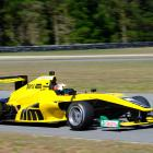 Brendon Leitch, of Invercargill, practises for the opening round of the Toyota Racing Series, at...