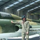 Aviation enthusiast Peter Meadows, of Alexandra, is making himself right at home in his prized L...