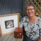 Central Otago artist Annemarie Hope-Cross displays one of the ''Still'' series of images that...