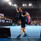 Andy Murray leaves the court after what could be his final Australian Open appearance. Photo:...