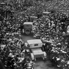 The huge assemblage in Anzac Square, Dunedin, to welcome home the 920 soldiers who returned by...