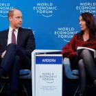 Jacinda Ardern and Prince William talk mental health at the World Economic Forum. Photo: Reuters