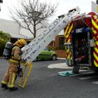 Balclutha Fire Brigade attending the initial call-out to a false alarm at the Clutha District...